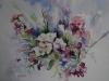 Aquarel Witte bloemen te koop