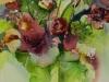 Groene-vaas-met-rode-bloemen te koop