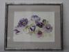 anemonen aquarel met lijstje en p.p.