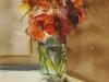 Aquarel oikers-in-tegenlicht, aquarel maat 40 x 32 cm