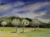 Aquarel annet-bomen-voorjaar