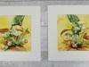 Twee-luik-aquarellen-paddestoelen  te koop