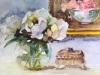Aquarel-Pioenrozen-schilderij-in-een-schilderij
