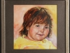 Portret van Little Miss E.,opdracht in olieverf op paneel 23 x 23 cm