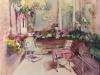 Tuin aquarel in opdracht