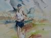 Aquarel Marathonloper