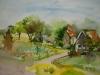 Aquarel molenweg-nieuweland-joke-klootwijk