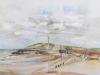 Aquarel Nolle strand, maat 30 x 40 cm