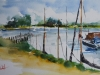 Plein air Aquarel Veere Havenhoofd Bastion