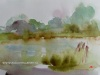 Plein-air-aquarel-Waterpartij-Fort-Rammekes