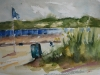 plein air Aquarel Nollestrand Vlissingen