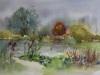plein-air-aquarel-Fort-Rammekes herfst te koop
