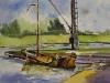 Aquarel Historische scheepswerf-Meerman