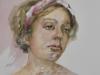 1_aquarel-portret-studie-Hannah-Wells te koop