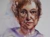 Aquarel Portret studie Ali, maat 40 x 32 cm