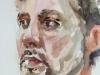 Schetsboekpagina portret van een man, maat 20x15 cm