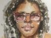 aquarel portret schetsboekpagina
