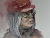 aquarel-the-red-Baret-portret