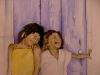 Aquarel lachende-kinderen (VERKOCHT)
