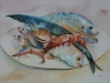 Aquarel Stilleven Fruits de Mer