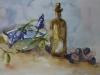 Joke-Klootwijk-aquarel-blauwe-druifjes-en-blauwe-bessen te koop mat 25x35cm