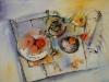 Aquarel vloerstilleven op aquarel papier te koop