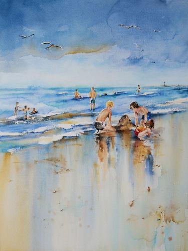 Strand en Zee  Aquarelleren.nl - Workshops en Aquarellen van Joke ...