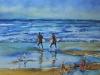 Aquarel Surfers