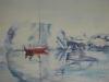 Aquarel antarctica