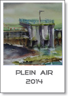 Aquarellen pleinair 2014