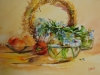 aquarel blauwe bloemen in vaas te koop