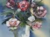 Aquarel Bloemen in zinken vaas