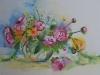 Aquarel roze-pioenrozen
