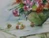 Aquarel Tuintafel met bloemen (VERKOCHT)