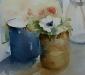Aquarel Witte anemoon
