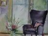 Aquarel paarse-stoel