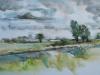 Aquarel Schellach Middelburg plein air te koop