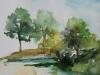 aquarel buitenschets Middelburg