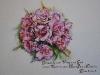 Aquarel bruidsboeket-rozen in opdracht