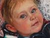 Maarten 7 maanden, olieverf op Ampersand board