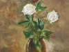 Olieverf opdracht rozen in vaas