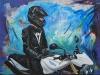 Acryl triumph-motorbiker