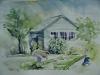 Aquarel tuinhuis