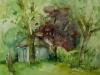 Aquarel molenwater-middelburg aquarel maat 26 x 36 cm