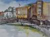 Middelburg-plein-air-aquarel te koop