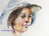 Aquarel-portret-studie-blauwe-hoed