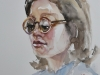 Aquarel-studie-Vrouw-met-bril