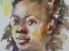 aquarel portret meisje met oorknop, maat 15 x 20 cm