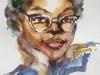 aquarel-studie-portret van Anais Francklin