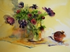 Aquarel anemonen-in-vaas 2012 (VERKOCHT)